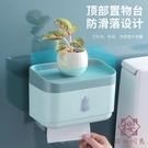 壁掛衛生間紙巾盒廁紙置物架免打孔防水衛生紙抽紙卷紙盒【櫻田川島】