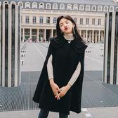 斗篷大衣 女秋冬季2018新款韓版學生寬松呢子外套中長款
