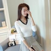 店長推薦 秋冬新款韓版短款毛衣打底衫女長袖套頭修身顯瘦針織打底衫外套
