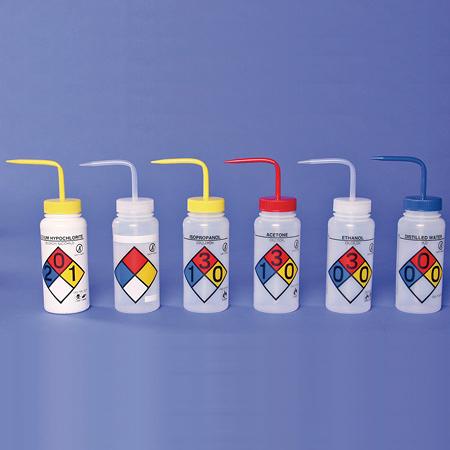 《Bel-Art》彩色安全洗瓶 PE Safety-Vented Wash Bottle, PE