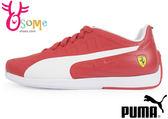 PUMA女鞋 大童鞋 法拉利 休閒運動鞋 I9557#紅◆OSOME奧森童鞋/小朋友