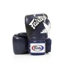 『VENUM旗艦館』8oz Fairtex 健身房拳擊手套~重擊打沙袋拳套~真皮拳套 - 國旗星星款 藍色 BGV1