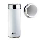 SMF雙層真空骨瓷保溫杯 350ml (鮮乳白) 鋅時代款 #B2335Z