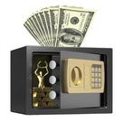 【DG140】金屬保險櫃(投幣式) 31x20x20cm 電子保險箱(免運) 密碼鎖保險箱 鋼板保險櫃 EZGO商城