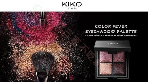 ☆貨比三家☆ 義大利 KIKO Color Fever 四色 烘焙 眼影盤 乾燥玫瑰 好眼色 電眼妝 裸色 醒目