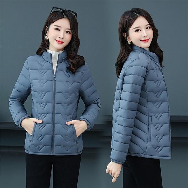 棉服 2021新款秋冬小棉衣女短款輕薄棉服中年人媽媽冬裝外套輕薄款棉襖 韓國時尚週