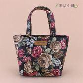 手提包 包包 防水包 雨朵小舖 M017-0003 小可愛手提包-黑黑暗系玫瑰19352 funbaobao