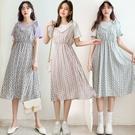 現貨-MIUSTAR 綁帶荷葉滾邊假兩件碎花洋裝(共3色)【NJ1061】