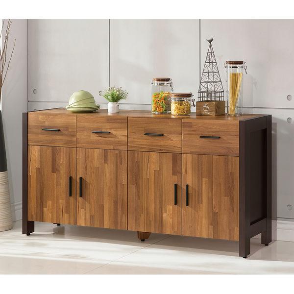 【森可家居】巴菲特5尺餐櫃 7ZX828-4 收納廚房櫃 中島 LOFT復古工業風