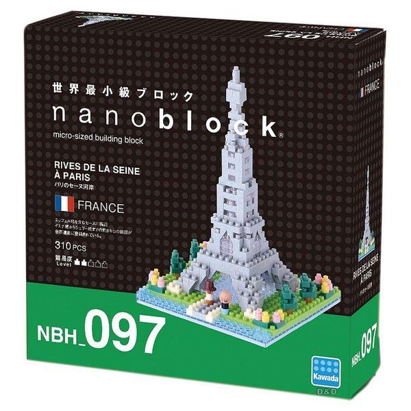 《 Nano Block 迷你積木》【 世界主題建築系列 】NBH - 097 巴黎賽納沿岸 ╭★ JOYBUS玩具百貨