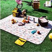 哆唻咪野餐墊防潮墊戶外沙灘帳篷地墊防水牛津草坪墊子野餐布野營QM『艾麗花園』
