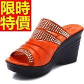 涼鞋-低跟休閒透氣夏季休閒皮革女休閒鞋3色54l80[巴黎精品]