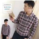 【大盤大】(S51798) 男士 100%純棉襯衫 長袖口袋 蘇格蘭格紋 輕刷毛 法蘭絨格子襯衫【剩2XL號】