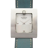 HERMES 愛馬仕 BELT WATCH BE1.210 牛仔藍石英腕錶  【BRAND OFF】