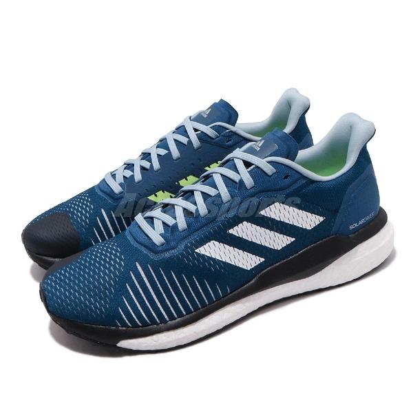【海外限定】adidas 慢跑鞋 Solar Drive ST M 藍 黑 男鞋 BOOST中底 運動鞋【PUMP306】 D97453