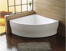 【麗室衛浴】BATHTUB WORLD  D-057 壓克力  扇形造型缸 150*150*58CM