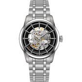 Hamilton漢米爾頓 AMERICAN CLASSIC 鐵路鏤空機械錶-黑/42mm H40655131
