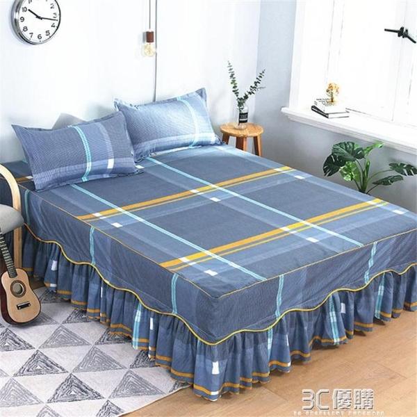 歐式床罩單人床裙三件套床套防滑保護套雙人1.5m1.8m2.0m床1.2米 3C優購