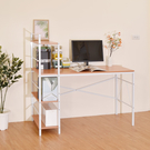 書桌/電腦桌 凱堡 庫洛里德層架木紋雙向電腦桌【B09123】