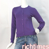 agnes b.紫色針織小外套AB3A7510