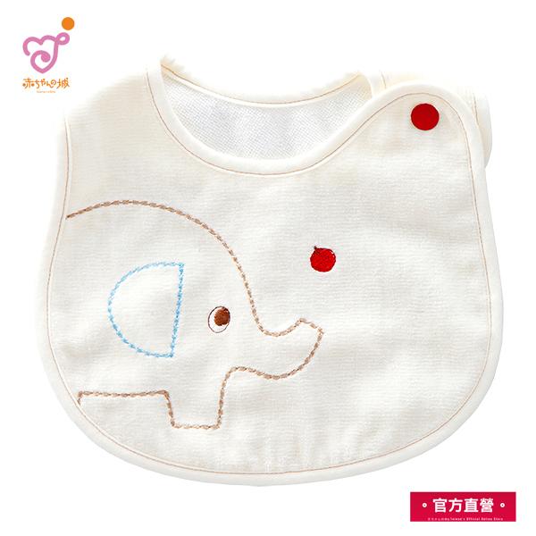 日本製 幼兒純綿圍嘴 (大象圖案)