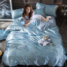 歐式貢緞4件套被套床單公主風簡約夏季冰絲床上用品DSHY