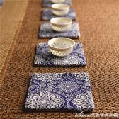 古典布藝杯墊吸水 中式復古茶道中國風 日式功夫茶道零配件禪意艾美時尚衣櫥