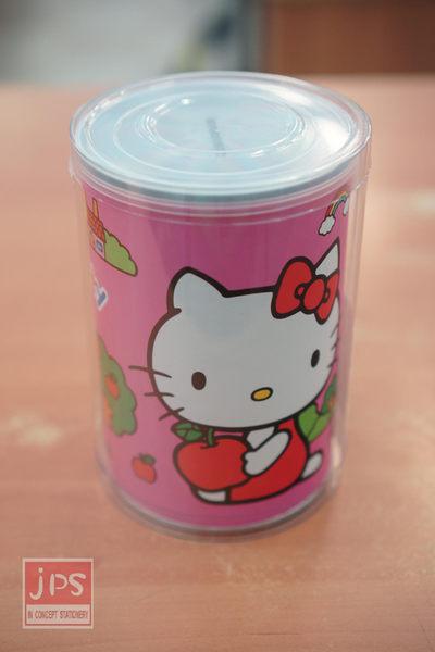 Hello Kitty 易開罐存錢筒 (蘋果粉)