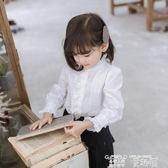 女童襯衫 曉希童春裝2019兒童白色純棉打底娃娃領洋氣長袖襯衣女童襯衫 童趣屋