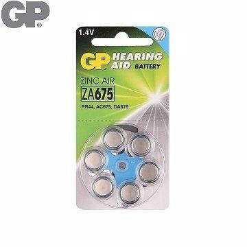 {光華成功NO.1} GP 助 聽 器 用電池ZA675 (6入)(BAT-GPB-ZA675-D6)  喔!看呢來