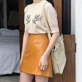 【618】好康鉅惠夏女小皮裙半身裙女高腰包臀裙子短裙半裙