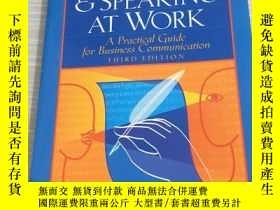 二手書博民逛書店Writing罕見And Speaking At Work: A