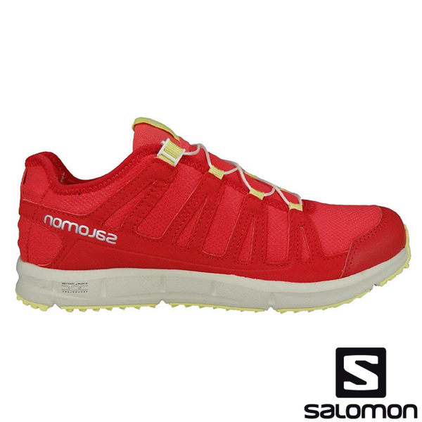【SALOMON 法國】KOWLOON 女戶外休閒鞋『番木瓜紅/米白』多功能鞋.健行鞋.登山鞋 328107