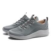 SKECHERS ULTRA FLEX 2.0 灰 透氣網布 鬆緊鞋帶 慢跑鞋 男(布魯克林) 52767WGRY