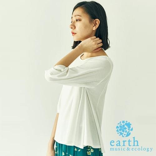 「Hot item」簡約圓領素面上衣 - earth music&ecology