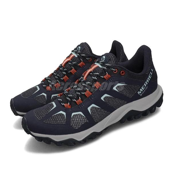 Merrell 戶外鞋 Fiery GTX 藍 灰 女鞋 運動鞋 Gore-Tex 防水 【PUMP306】 ML99684