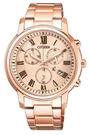 CITIZEN星辰 HEBE電視廣告款  Eco Drive 亞洲限定xC光動能計時女用腕錶-玫瑰金FB1432-55X