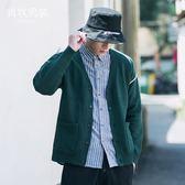 針織開衫 針織開衫男士針織衫毛衣外套休閑薄款日式復古韓版