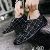 男鞋子夏季透氣老北京帆布鞋豆豆鞋男板鞋休閒鞋駕車鞋潮流社會鞋