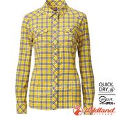Wildland 荒野 0A81201-124藤黃色 女彈性格子長袖襯衫 抗UV/中層衣/登山休閒服/排汗衫/可當外套