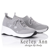 ★2019春夏★Keeley Ann時尚心機 暖心透氣增高休閒鞋(灰色)-Ann系列