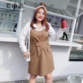 【YPRA】洋氣大碼女裝裙子2020新款微胖mm春裝胖妹妹收腰顯瘦連身裙