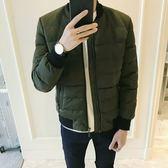 夾克外套-棒球領冬季時尚保暖舒適夾棉男外套2色73qa39[時尚巴黎]