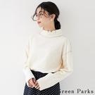 「Winter」勾邊配色抓褶設計上衣 - Green Parks