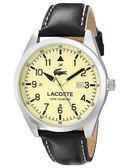 Lacoste 古典紳士皮帶錶-黑x象牙