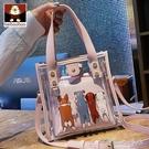 透明包包女2020新款潮女包夏天果凍包斜背包側背可愛萌小包 果果輕時尚