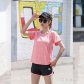 速幹衣運動套裝夏季薄款女健身短袖短褲運動  【快速出貨】情人