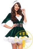 聖誕節聖誕老人服裝性感V領成人冬衣女裙【雲木雜貨】