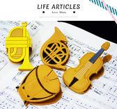 【小麥老師 樂器館】夾子 台灣製 樂器造型 NC071.2.3.4 文具【A753】樂譜夾 譜夾 音符夾