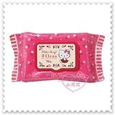 ♥小花花日本精品 ♥ Hello Kitty 桃紅 玫瑰花 附蓋濕紙巾 抽取式柔濕巾 (70抽)57012902